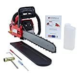 TRUESHOPPING 52cc Easy Start Petrol Chainsaw Lightweight, Low Maintenance and Heavy Duty