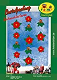 Fischer Fensterbild WEIHNACHTSSTERNE / Bastelpackung / ca. große Blüte 21x21 cm, kleine Blüte 14x14 cm, Zweig 14x16 cm / zum Selberbasteln / Basteln mit Papier und Pappe für Weihnachten
