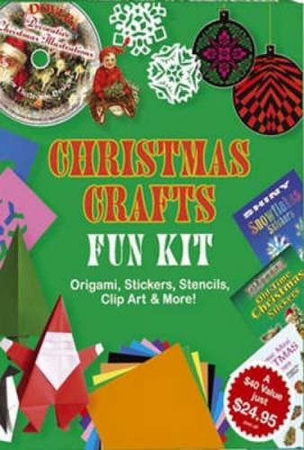 Christmas Crafts Fun Kit: Origami, Stickers, Stencils, Clip Art & More! (Dover Fun Kit)