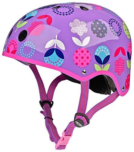 Micro Sicherheits-Helm: Blumen-/Punktemuster (48–53cm) (Maxi Micro Scooter Pink)