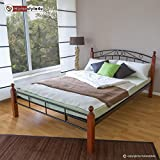 Homestyle4u Metallbett Bett Doppelbett 180 x 200