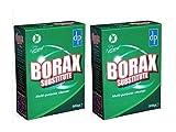 2 x BORAX SUSTITUTO un limpiador multiusos eficaz y biodegradable Limpiador general y limpiador de lavandería (2 x 500g boxes)