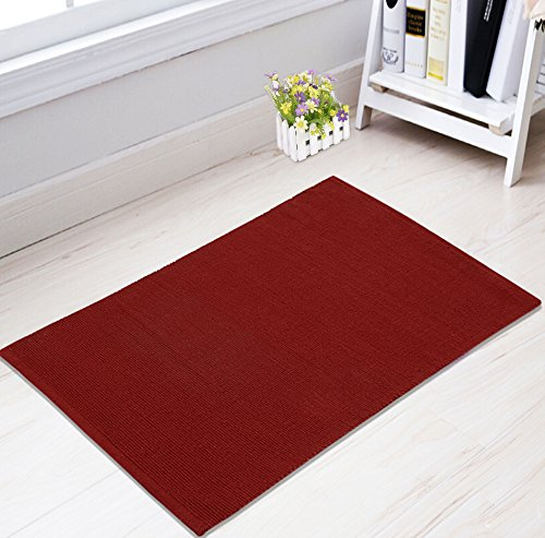 Saral Home Cotton Solid Multipurpose Rugs- 50x100 cm