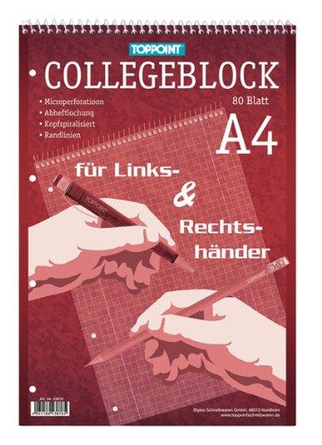 10x Collegeblock DIN A4 Rechts & Linkshänder kariert