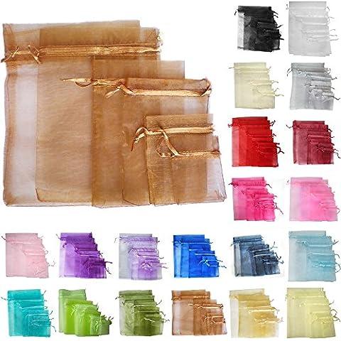 TtS 50 17x23cm Borsa Organza regalo sacchetto Gioielleria Sacchetti di natale festa di nozze favori caramella (cioccolato)
