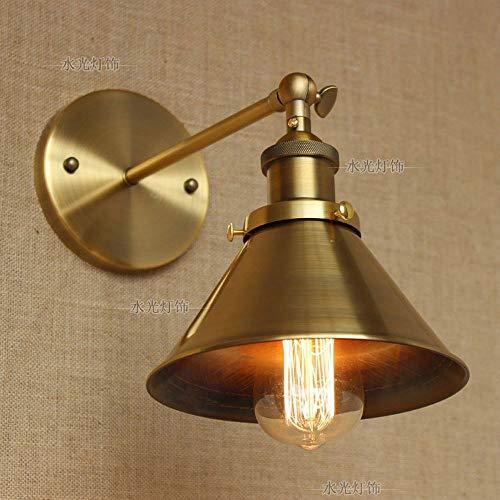Xiao Yun ☞ Vintage Wandleuchte Lampe Industrie Einstellbare Lampenschirm Gebürstet Bronze Metall Finish Wandhalterung Schwenkarm Wandleuchte für Schlafzimmer Wandleuchte ☜ -