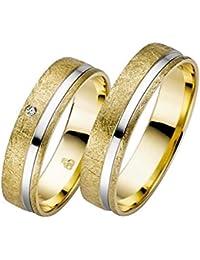 CORE by Schumann Design Trauringe Eheringe aus 585 Gold Gelbgold/Weissgold Bicolor mit echten Diamanten Gratis Testringservice & Gravur 19018704