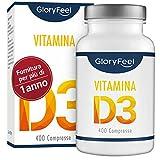 Vitamina D 1000 IU - 400 Compresse facili da inghiottire | Fornitura per più di