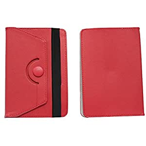 BRAIN FREEZER ROTATING WITH BUTTON 7INCH FLIP FLAP CASE COVER POUCH CARRY FOR SIMMTRONIC TURBO RED