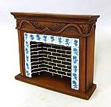 Puppenhaus 1:12 Maßstab Miniatur-Möbel Kunstharz Walnuss Stein Delft Kamin