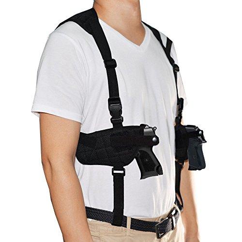 Pronghorn Schulterholster Cordura, Links Rechts Hand PistolenholsterSchulter unter Arm Horizontale Pistole Träger Pistolenhalfter Schwarz -