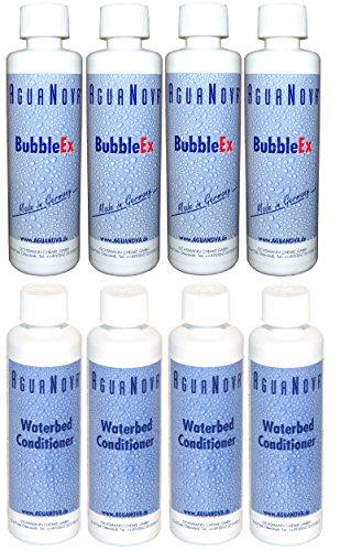 4x Conditioner + 4x Bubble Ex Agua Nova Wasserbetten Konditionierer =8 Flaschen