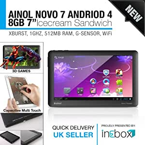 Ainol Novo 7 Paladin Tablet Android 4.0 Weiß Kapazitives Display,Deutsche Bedienungsanleitung