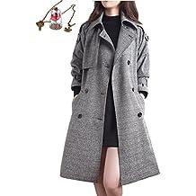 Manteau laine gris femme zara