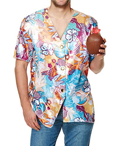 Islander Fashions Mens Womens Mexican Hawaiian Party Kost�m Erwachsene Stag Do Cosplay Zubeh�r Erwachsene Hawaiian Shirt One Size Fits Most - Womens Hawaiian Shirt