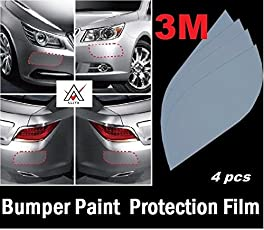 Alive Traders Universal DIY 3M Clear Car Bumper Edges Paint Protective Film (4 Pcs)