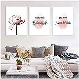 xwlljkcz 3 Stück Allah Bismillah Islamische Wandkunst Leinwand Malerei Poster Blumendruck Nordic Dekorative Bild Moderne Wohnzimmer Wohnkultur 50x70 cm Kein Rahmen