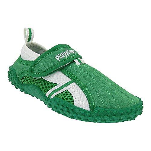 GALLUX Kinder Aqua Schuhe Badeschuhe mit UV-Schutz Aquaschuhe Schwimmbad Strand Pool für Mädchen und Jungen sportliches Aussehen Klett Hausschuhe unisex Grün