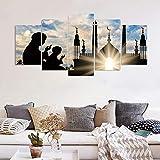 Ughjb Arabische Islam Kalligraphie Allmächtigen Allah Moschee Bilder Muslim Leinwand Malerei Poster
