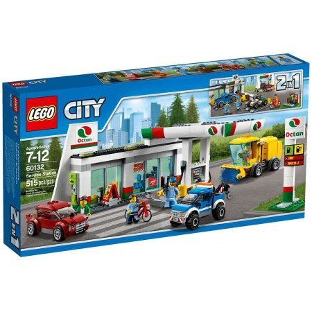 Preisvergleich Produktbild 515 Pieces LEGO City Town Service Station Building Set Model#60132 by LEGO