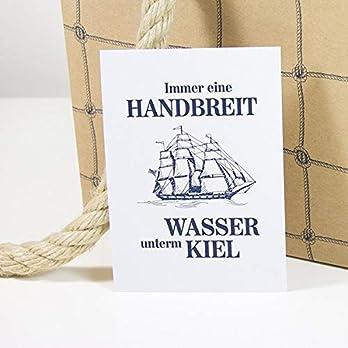 "Postkarte ""Wasser unterm Kiel"""