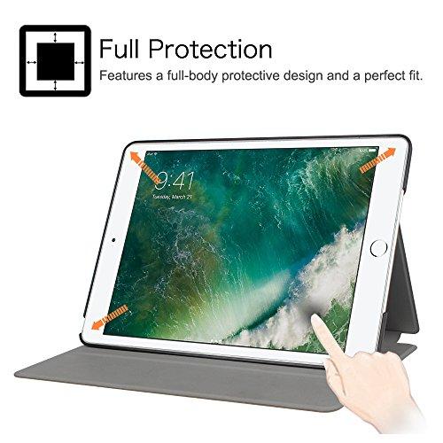 Fintie iPad 2017 9.7 Zoll / iPad Air 2 / iPad Air Hülle - [Slim Shell] Superleicht Folio Stand Schutzhülle mit Auto Sleep / Wake, Multi-Winkel Betrachtung für Apple iPad 2017, iPad Air 1 2, Schwarz - 6