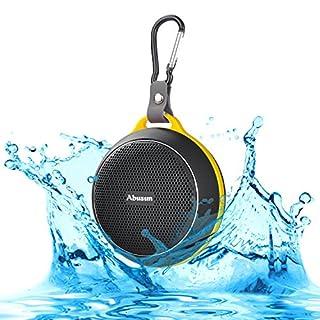 Ajusen Waterproof Bluetooth Speakers V4.1 HD Powerful Surround Sound Waterproof Shockproof Portable Sport Speaker Shower Bass Wireless Stereo Subwoofer Loudspeaker with Amazing Music Audio Effect (Black)