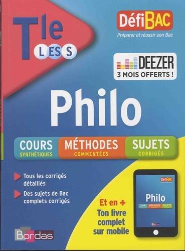 DéfiBac Cours/Méthodes/Exos Philosophie Terminale L/ES/S + 3 mois offerts à Deezer Premium +