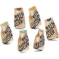 Reishunger Bio Vollkorn Set - 5 verschiedene Sorten Bio-Vollkorn Reis und Getreide, 200 g [in 200 g, 600 g und 3 kg erhältlich]