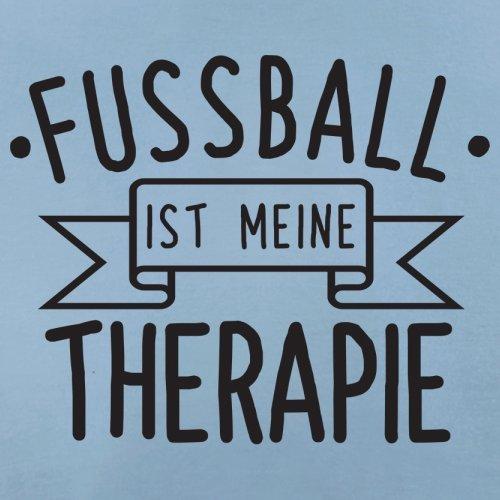 Fussball ist meine Therapie - Damen T-Shirt - 14 Farben Himmelblau