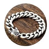 AnazoZ Schmuck 925 Sterling Silber Armband Für Herren Kette Armband Big 22cm