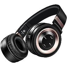 Sound Intone P6 Bluetooth 4.0 auriculares estéreo,Hi Fi Cancelación del ruido en la oreja Auriculares inalámbricos, Con micrófono incluido y control de volumen,on cable de audio, Compatible con los teléfonos/ PC/ Tv/ iPhone/ Samsung/ Laptop (negro/cobre)