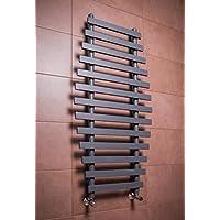 WarmeHaus Sèche-serviettes eau chaude 517W - 1200 x 600 - Sable gris - Radiateur - Chauffage central