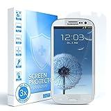 EAZY CASE GmbH 3X Samsung Galaxy S3 / S3 Neo Panzerglasfolie 9H stärke, Schutzglas aus gehärtetem 2,5D Panzerglas (nur 0,3 mm dick), Displayschutzglas, kristallklar