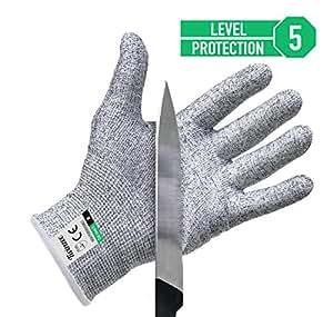 Paire de gants anti coupures Twinzee - Protection de niveau 5 conforme à la norme EN 388 - Tout simplement la meilleure protection qui existe contre les coupures du quotidien (cuisine, jardinage, bricolage) - Taille S
