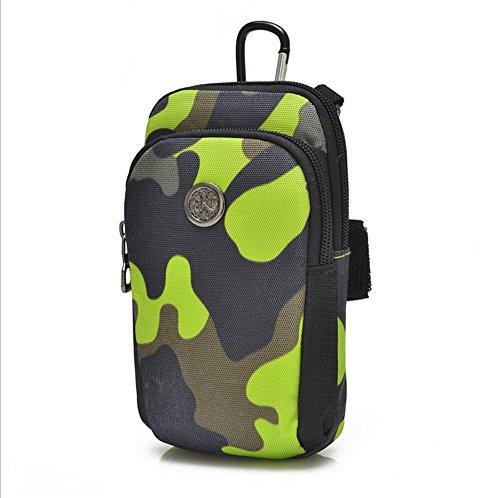 Xiuxiandianju Esecuzione di telefono cellulare da polso braccio braccio borsa borsa sport palestra attrezzature tracolla , red camouflage green camouflage