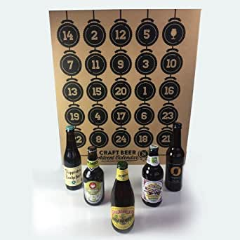 craft beer advent calendar craft advent calendar 24 beers amp glass co 3724