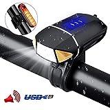PiAEK Lumière Vélo Set Lampe Vélo LED USB Rechargeable Eclairage Vélo...