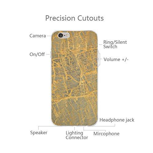 iPhone 6/6s Custodia Marmo TPU Gel Silicone Protettivo Skin Custodia Protettiva Shell Case Cover Per Apple iPhone 6 6s (4,7) (7) 3