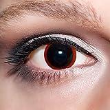 KwikSibs farbige Kontaktlinsen, schwarz, Hexe, weich, inklusive Behälter, K528, BC 8.6 mm/DIA 14.0/0,00 Dioptrien (ohne Stärke), 1er Pack (1 x 2 Stück)