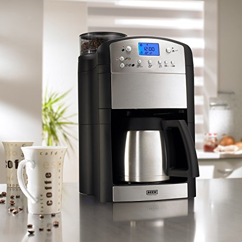 51EU9HJ1kGL. SS500  - BEEM Fresh-Aroma-Perfect Thermolux | Coffee Machine with Grinder for Coffee Beans and Filter Coffee | 1.25 l Thermal Pot…