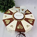 Hochzeitsgeschenk - Schachteltorte DUNKELBRAUN-CREME - Geldgeschenk, Geschenkidee Hochzeit