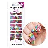 ThumbsUp ongles Let's Peinture aquarelle Vernis autocollant/étiquette/bandes de vernis à ongles Feuille/une couverture complète Nail Art Stickers/20stratifiées par lot