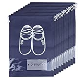 ZeWoo 10 Pcs Bolsas de zapatos, accesorios de viaje con la cremallera para los hombres y de las mujeres Cordón a prueba de polvo portátil con ventana transparente