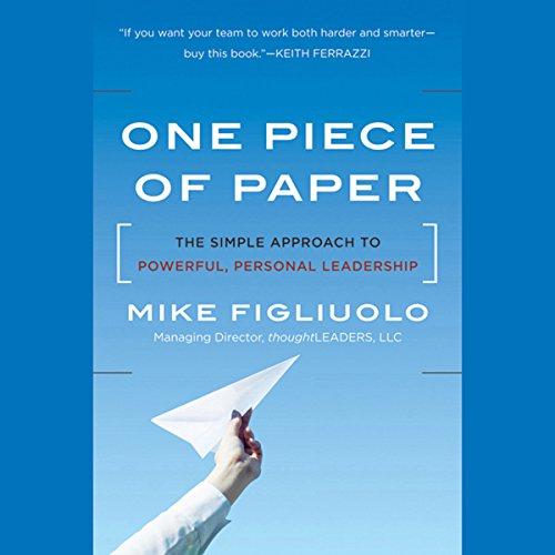 One Piece of Paper  Audiolibri