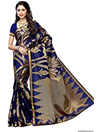 Mimosa Women's Silk Saree With Blouse Piece (163-Navy,Navy,Free Size)