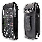 caseroxx Handy-Tasche Ledertasche mit Gürtelclip für
