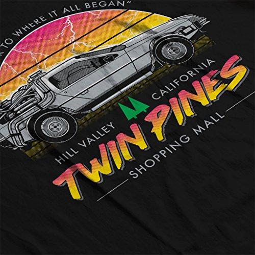 Back To The Future Twin Peaks Twin Pines Women's Sweatshirt Black