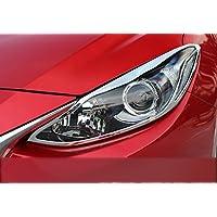 Head Light Lampe Coque Trim Cadre Décoration 2pcs pour accessoire Auto Mzm3