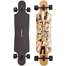 Soul Bamboo Twin Tip - Drop Thru Longboard | Nivel de Flexibilidad 1 (dura) | El Complet Long Board más moderno del 2014 de la marca exclusiva Apollo| El Board con mucho estilo hecho de arce canadiense | Longitud: 101,8 cm / 40 in – Ancho: 24 cm / 9,5 in